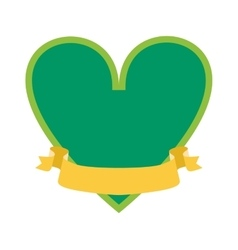 Classical simple green heart silhouette shape icon vector