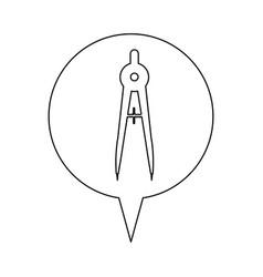 Compass line icon education vector