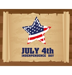 Design of Independence Day on papyrus roll vector image vector image