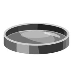 Filter lens icon gray monochrome style vector