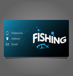 Fishing business card vector