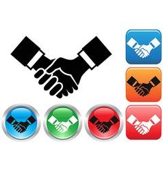 Handshake buttons vector image vector image