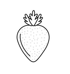 Line delicious and healthy strawberry fruit vector