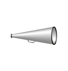 megaphone in silver and black design vector image vector image