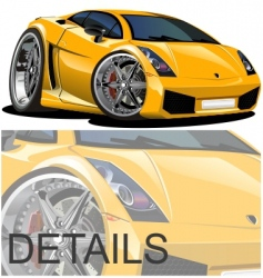 modern cartoon car vector image