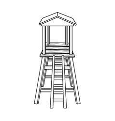 observation tower for huntersafrican safari vector image