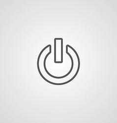 power on outline symbol dark on white background vector image vector image