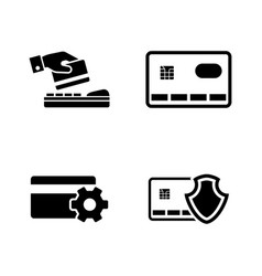 safe payment simple related icons vector image
