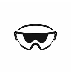 Safety glasses icon simple style vector