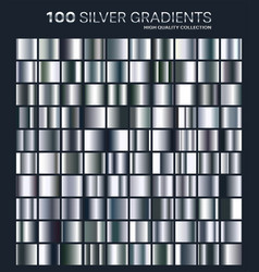 silver gradientpatterntemplateset of colors for vector image vector image