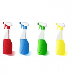 spray bottles vector image vector image