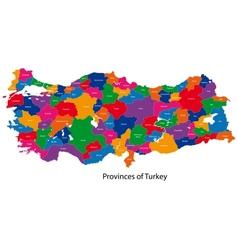 Turkey map vector image vector image