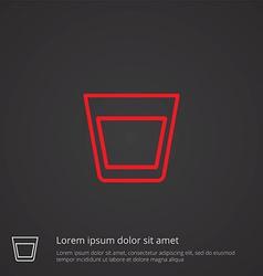 vodka outline symbol red on dark background logo vector image