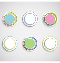 Web button set vector image vector image