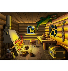 Witch house inside vector image vector image