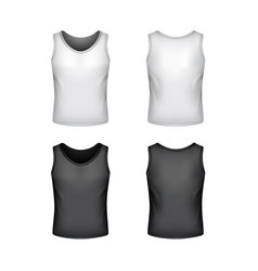 Male singlet isolated on white vector