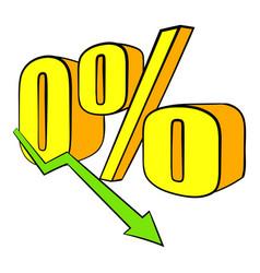 decline in revenue icon cartoon vector image