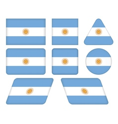Buttons with flag of argentina vector