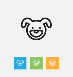 Of zoo symbol on puppy outline vector