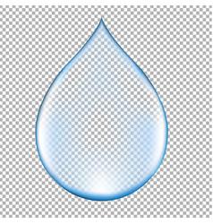 Realistic blue water drop vector