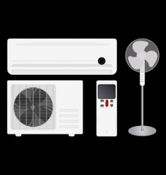 air conditioning and fan vector image