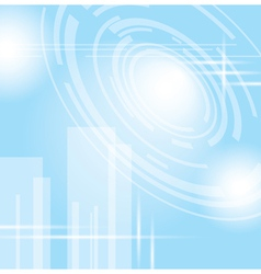 Light blue abstract futuristic background vector