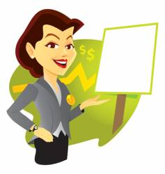 Sales woman vector