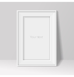 Blank frame on white wall background vector