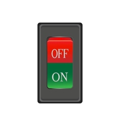 Onoff red switch button vector