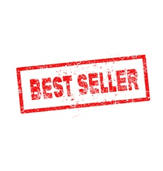 Red best seller rubber stamp vector