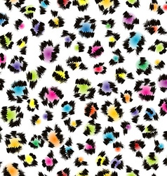 Colorful leopard fur background vector