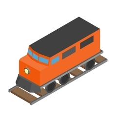 Train locomotive transportation railway vector