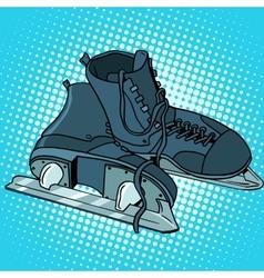 Men skates winter sports vector