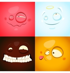 Set with cute different emotions vector