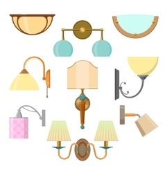 Set of home light in flat style vector