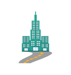 Building modern structure road vector