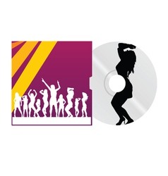 Cd and cover with dancing girl vector