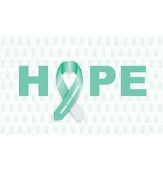 Cervical cancer ribbon vector