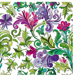 decorative hand drawn doodle nature ornamental vector image vector image
