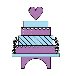 delicious and sweet cake to celebrate design vector image vector image