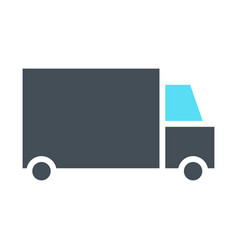 delivery truck silhouette icon minimal pictogram vector image