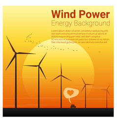 Energy concept background with wind turbine 17 vector