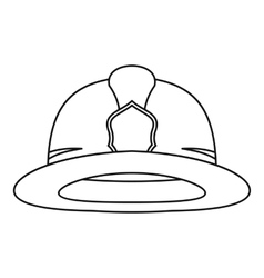 Fireman helmet icon outline style vector