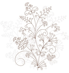 floral design grassy ornament vector image