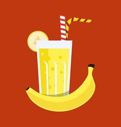 Fresh banana juice drink vector
