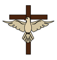 Holy spirit cross sac hope vector