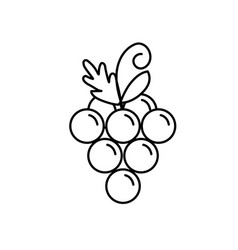 Line delicious and healthy grape fruit vector