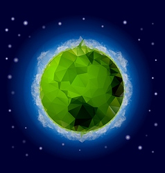 Poligonal Planet 2 vector image