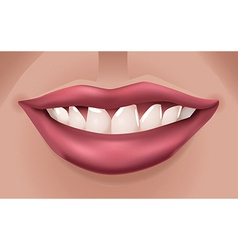 red smiling lips vector image