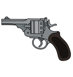Retro short revolver vector